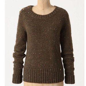 EUC✨Anthropologie Berm Button Sweater